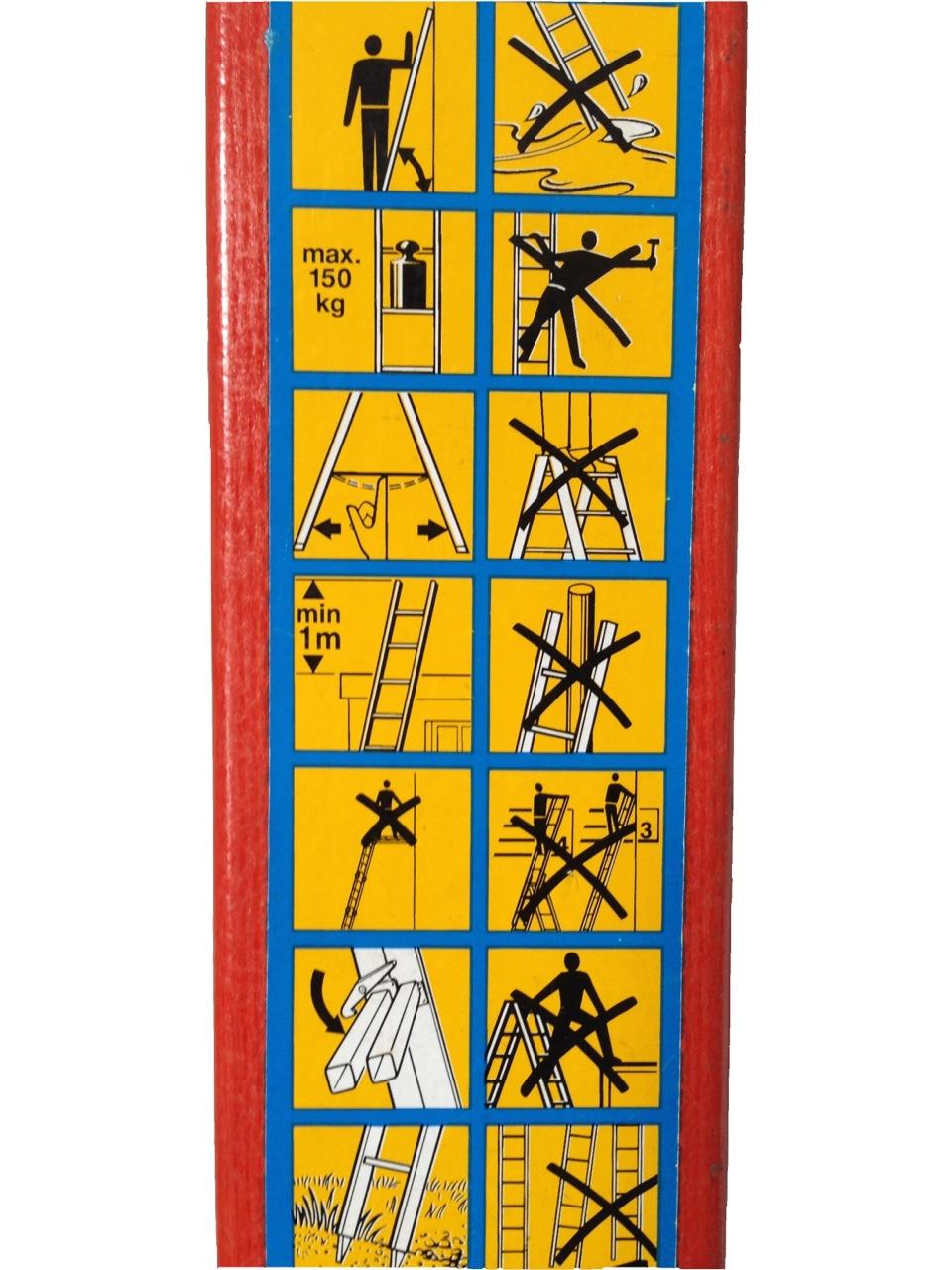 Leitern und Tritte Piktogramme