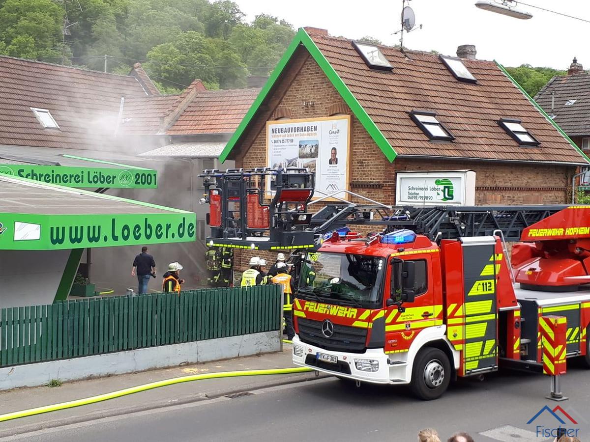 Feuerwehrübung am Schwarzbach